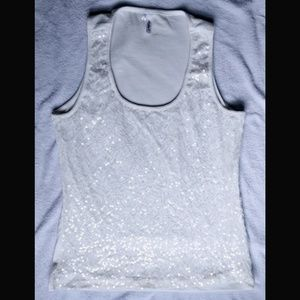 Lace Sequin embellished tank top